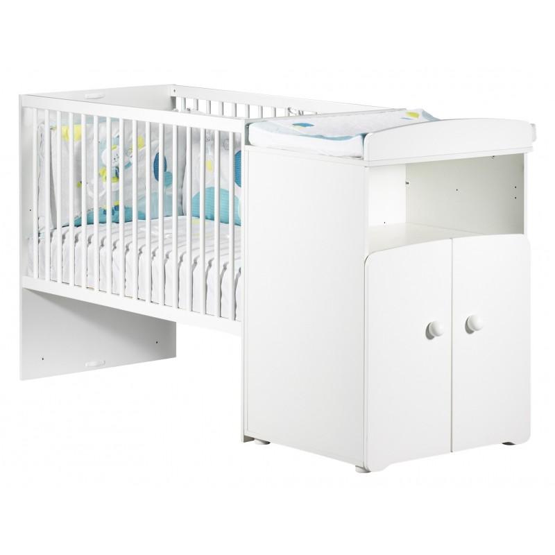 Lit bébé combiné évolutif 60x120 en 90x190 NEW BASIC BABY PRICE